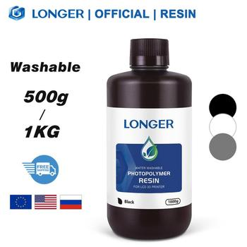 LONGER Water Washable Resin for Orange 10 & Orange 30 3D Printer Printing Material 500g/1KG Compatible for Photon/Photon