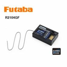 Ban Đầu Futaba HV 2.4G 4 Kênh S FHSS Thu R2104GF RC Xe RC Ban HV Mini Thu RC Xe Ô Tô phụ Kiện