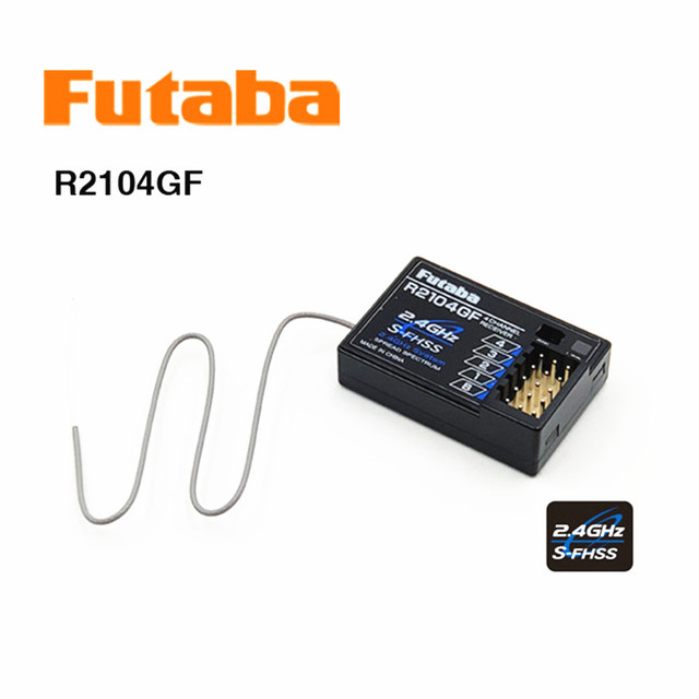 מקורי Futaba HV 2.4G 4 ערוץ S FHSS מקלט R2104GF RC רכב RC לוח HV מיני מקלט RC רכב אבזרים