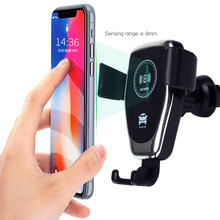 10W Q12 Wireless Fast Charger Car Mount Holder Stand For iPhone X XS XR Max Samsung S9 For Xiaomi MIX Huawei Mate 20 Pro цена и фото