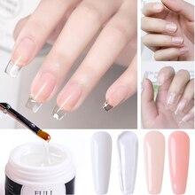 Builder Polish-Gel Extending Manicure Nails Clear Acrylic Repair White Broken 15ml NL1623