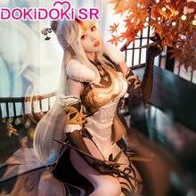 PRE-SALE dokidoki-sr jogo genshin impacto cosplay ningguang traje ning guang cosplay ning guang