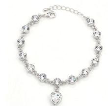 Bracelet Women Luxury Crystal Heart Charm Bracelets Bangles Gold Bracelets Jewellery
