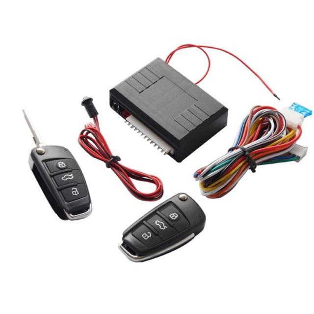 Système dentrée sans clé de voiture universel 12V avec télécommande coffre ouvert un démarrage bouton darrêt verrouillage central automatique