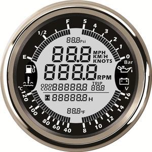 Image 5 - มัลติฟังก์ชั่นอัตโนมัติGaugeการปรับเปลี่ยน 85 มม.GPS Speedometer Tachการใช้ 8 16V VOLT Meterเครื่องวัดอุณหภูมิน้ำ 0 5Barความดันน้ำมัน