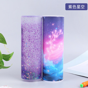 Image 5 - New Design Pencil Case School Supplies Pretty Flowing Sand Creative Kawaii Pencil Box Multifunction Pen Holder for Kids Gift