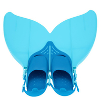 Swimming Fins Neoprene Adjustable For Kid Children Mermaid Swim Fin Women Foot Flipper Training Shoes Diving Feet Tail Monofin
