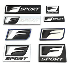 3d metal f esporte emblema emblema decalques do carro adesivos para lexus is200t is250 is300 rx300 ct nx rx gs rx330 rx350 ct200 gx470 ix350