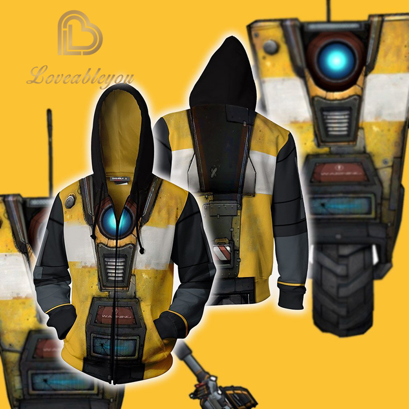 Men Fashion Game <font><b>Borderlands</b></font> 3 Cosplay Hoodies Halloween Party <font><b>Costumes</b></font> 3D Unisex Zipper Hooded Sweatshirts image