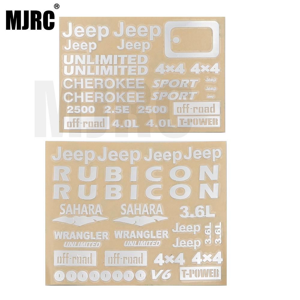 Wrangler Jeep Stickers For Traxxas Trx4 Defender Ford Bronco Ranger AXIAL SCX10 D90 D110 TAMIYA CC01 Hliux TOYOTA LC70 LC80 FJ40
