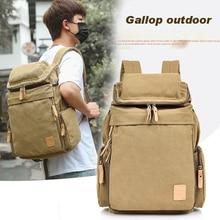 2020 classic canvas shoulder bag Korea tide leisure backpack Europe retro bag bag tide bookbag Canvas mountaineering bag