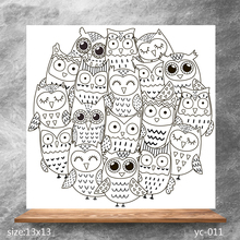ZhuoAng Big eyes monster Clear Stamps/Silicone Transparent Seals for DIY scrapbooking photo album Stamps