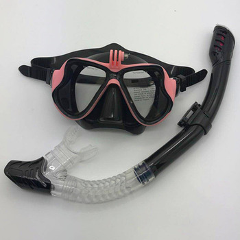 Snorkeling Mask Snorkel Tube Set Diving Mask Anti-Fog Swimming Diving Goggles Snorkel Tube For GoPro Underwater Sports Camera 8