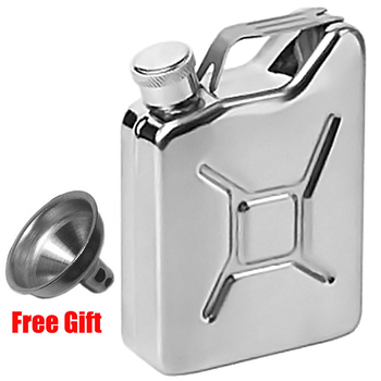 5 oz Hip Flask with Funnel Portable Whisky Wine Pot Creative Stainless Steel Flagon for Whiskey Liquor Personalized Men Gift