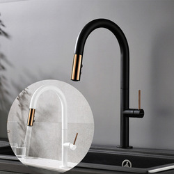 Black Copper Electroplated Pulls Faucet Kitchen Washing Basin Sink Hot And Cold Mixing Faucet