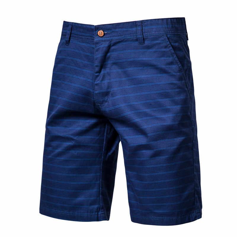 2020 חדש קיץ 100% כותנה מכנסים חברתיים גברים Slim מקרית סגנון קצר גברים מכנסיים כושר איכות Mens Mens הלבשה
