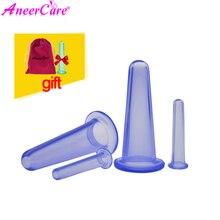 5 pçs massagem facial vácuo cupping jar para celulite massagem ventosa rosto latas anti celulite massagem corpo da família ajudante