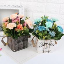 Maceta de jardín Vintage maceta de madera cesta suculenta maceta de jardín mesa de jardín decoración de boda maceta colgante de pared
