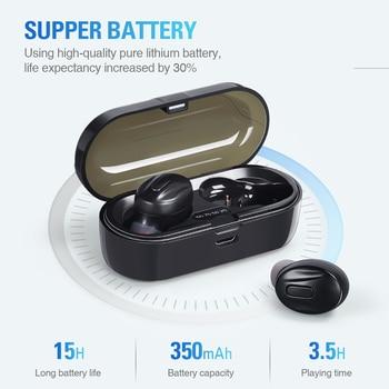 Bluetooth-Compatible V5.0 Earphones TWS True Wireless Headphones In-Ear Earbuds Waterproof Mini Headsets Stereo Sports Earpiece 3