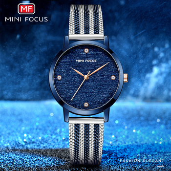 MINIFOCUS Womens Watches Top Brand Luxury Women Watch 2020 Simple Blue Watch Ladies Quartz Female Wristwatch Hand Clock Casual casual watches fashion women watch top brand hot sale ladies wristwatch ccq new clock simple design female quartz watch for girl