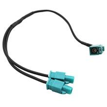 Cable adaptador de antena de automóvil, conector hembra Dual Fakra a Fakra para AUDI, SKODA, VW, accesorios de señal de navegación
