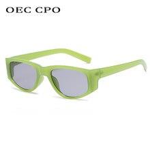 OEC CPO – lunettes De Soleil carrées Vintage pour femmes, Steampunk De marque, yeux De chat, petites, Punk