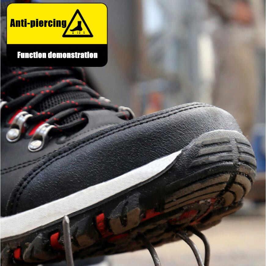 DM23 Stahl kappe kappe Anti-smash Anti-piercing Sicherheit arbeit schuhe Hohe Qualität Wasserdichte Leder Turnschuhe Outdoor Männlichen wandern Stiefel