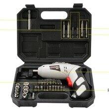 4,8 V электрическая отвертка набор Многофункциональный Перезаряжаемые электросверлилка бытовой Аккумуляторная дрель с переносной чехол