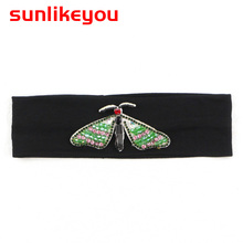 Sunlikeyou Baby Headband Butterfly Girls Embroidery Hair Bands For Kids Headbands Turban Newborn Accessories