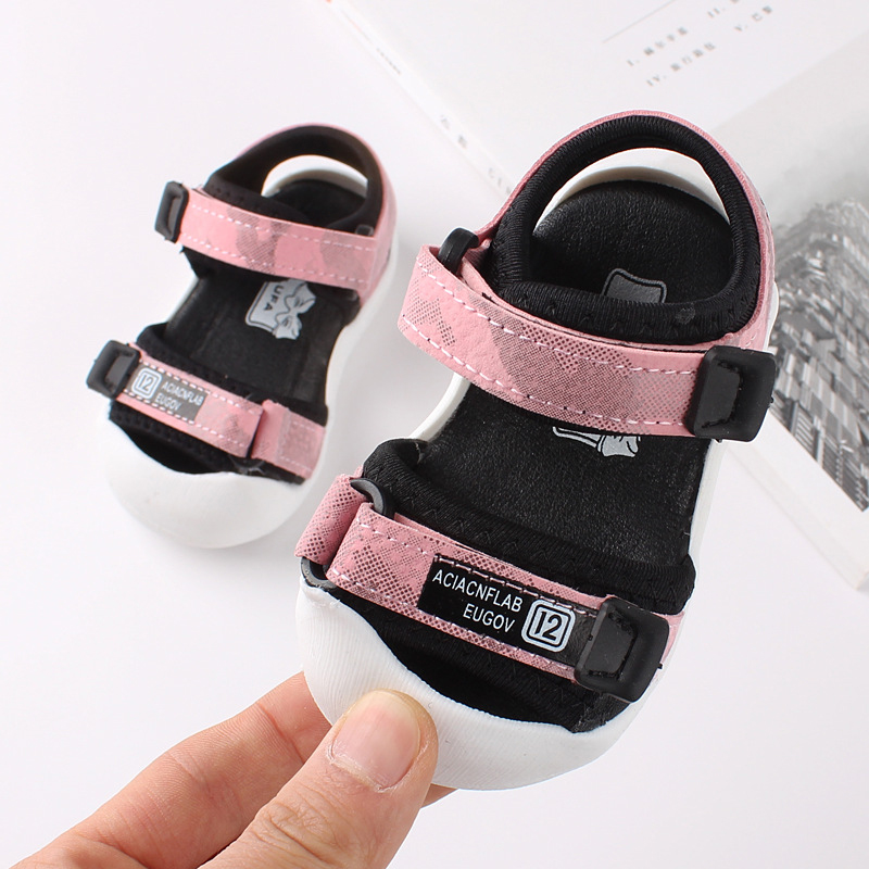 2020 First Walker Summer Children Shoes Sandals Toddler Children Sandals Soft Bottom Baby Boys Girls Shoes Sports Beach Sandals