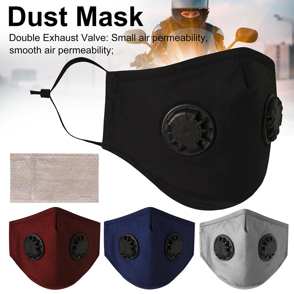 Fast Delivery Mask Dustproof Anti-fog And Breathable Face Masks With Dual Valve Reusable Mask Respirator 95% Filtration