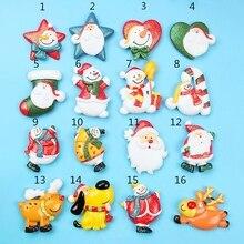 Рождество смола Flatback кнопка орнамент подвески для DIY холодильник наклейка аксессуар 77HE