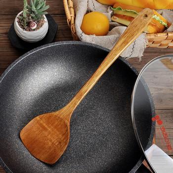 2021 topy home decor długie drewniane gotowanie ryż łopatka Scoop naczynie kuchenne non-stick ręcznie Wok łopata товары для дома tanie i dobre opinie CN (pochodzenie) Ekologiczne Drewna Tokarstwo