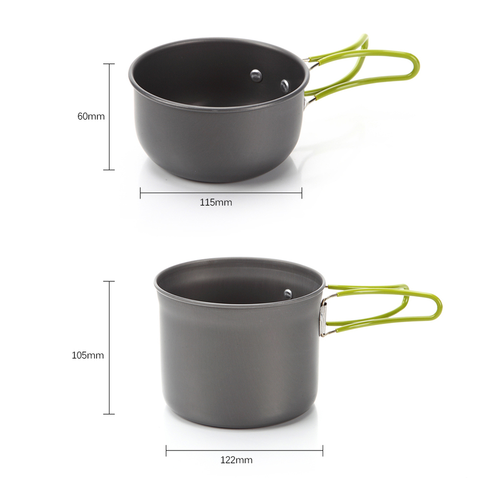 2Pcs// Set Portable Outdoor Cooking Camping Hiking Cookware Picnic Cookware