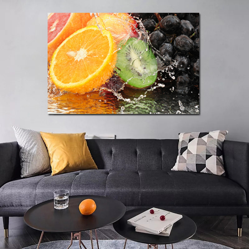 Half Cut Fruit Art Oil Painting Posters Modern Wall Art Canvas Painting Unique Gift For Art Wall Home Kitchen Decoration