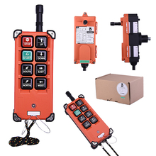 F21-E1B 6 buttons single speed concrete pump truck industrial crane radio remote control industrial wireless radio 4 buttons double speed remote control f21 4d for hoist crane