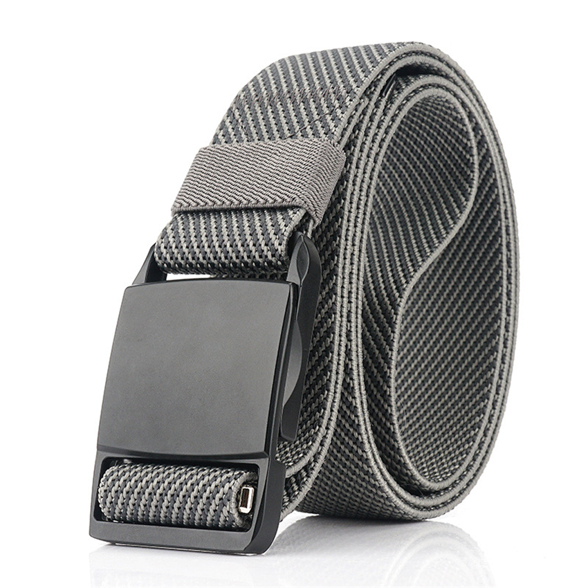 Men Belt Alloy Magnetic Buckle Quick Release Casual Elastic Stretch Jeans Belt Training Adjustable Tactical Belts High Quality