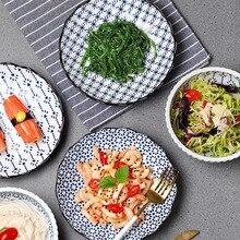 Японские традиционные тарелки, миски, керамические обеденные тарелки, наборы креативных блюд, тарелки Пномпень, Геометрическая посуда, десертная тарелка