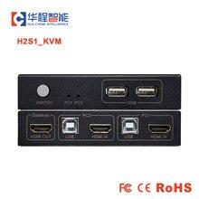 USB KVM מתג Ultra HD וידאו Switcher KVM H2 2 ב 1 מתוך hdmi comparible ממיר 4K * 2K 30Hz 1080P תמיכת HDCP עבור PS4 צג