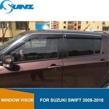 цена Window Visor for Suzuki Swift 2008-2018 side window deflectors rain guards for Suzuki Swift 2008-2018 SUNZ