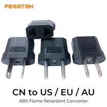 US AU EU Plug Adapter American Japan China US To EU Euro Travel Mini Portable Power Adapter Plug Outlet Converter Socket