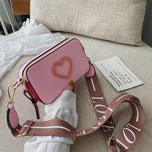 Fashion Small Bag Wide Strap Sweet Crossbody Bags