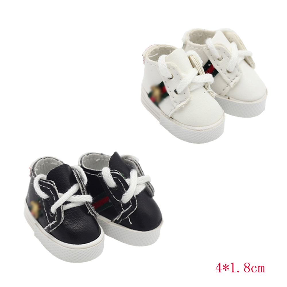 New 1/6 BJD Dolls Shoes 4*1.8cm Fit 15cm EXO Dolls Dress Accessories For 1/4 14inch Girl Dolls Toy Shoes 5.5*2.8cm