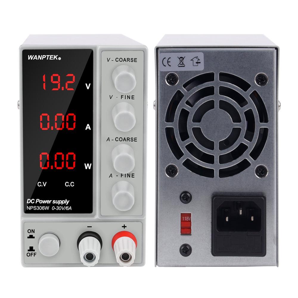 Wanptek régulé 30V 6A DC laboratoire alimentation réglable laboratoire commutation tension régulateur stabilisateur banc Source pour téléphone