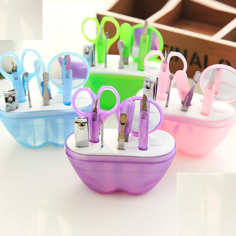 Apple-Shaped Manicure Repair Nail Clipper Set Nail Clippers Manicure 8 Pieces Beauty Tool Wholesale