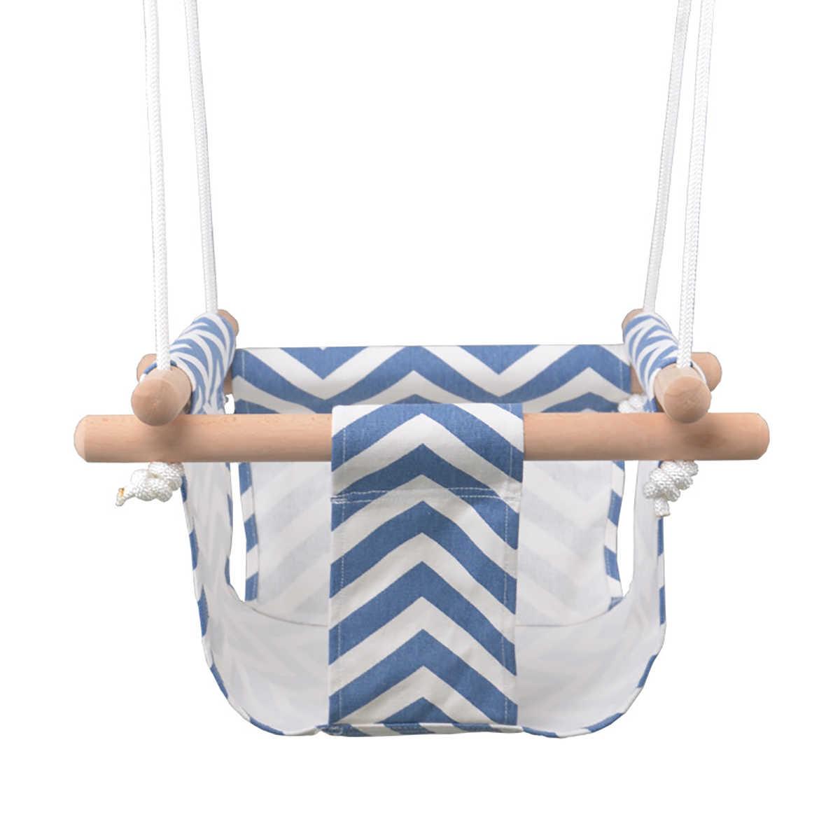 안전 아기 스윙 해먹 좌석 세트 캔버스 교수형 의자 쿠션 야외 실내 정원 나무 스윙 로커