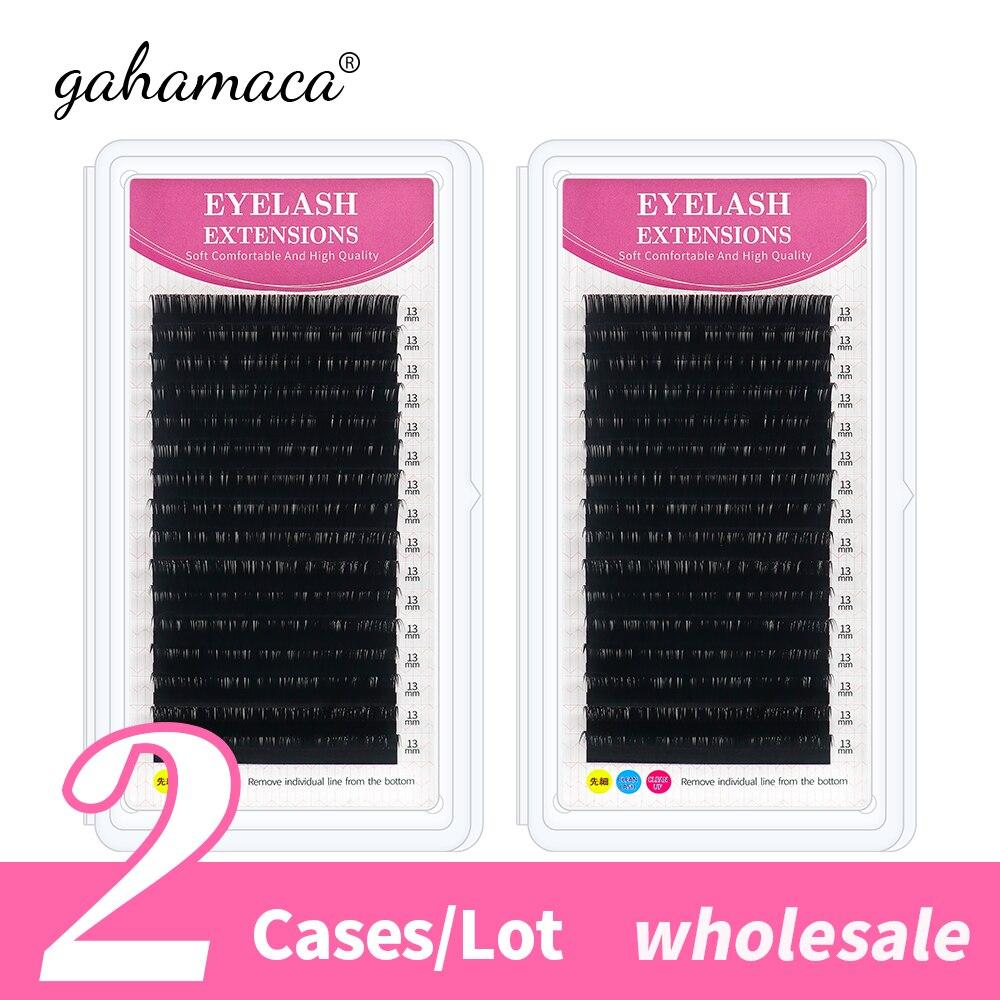 GAHAMACA wholesale bulk sale 2 cases/lot High quality mink eyelash extension individual eyelashes make up tools beauty
