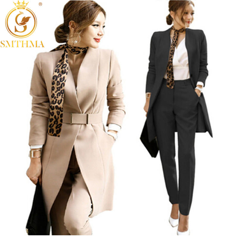 SMTHMA HIGH QUALITY Pant Suits Women Casual Office Business Suits Formal Work Wear Sets Uniform Styles Elegant Pant Suits