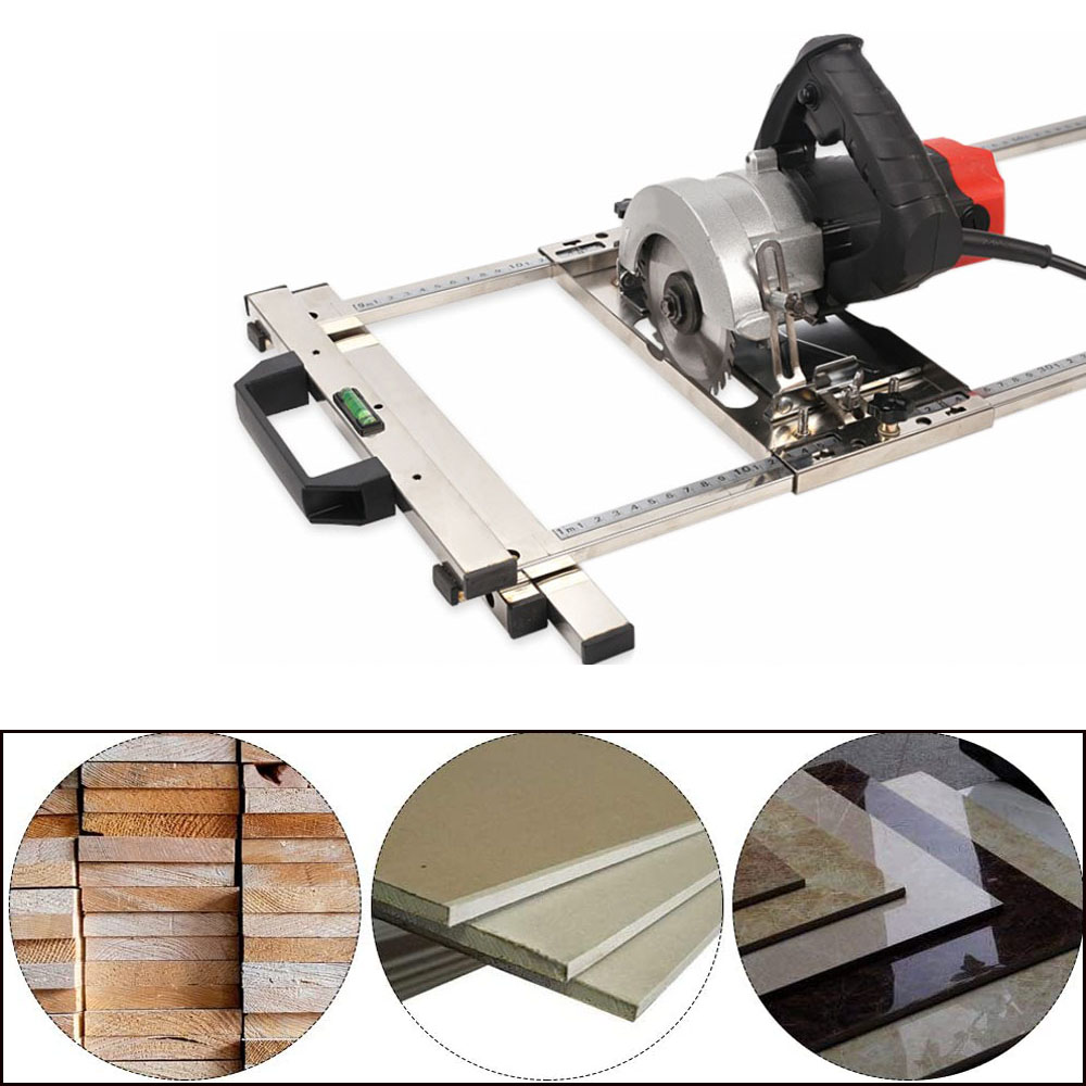 Multi-Function Edge Guide Positioning Cutting Board for Electricity Circular Saw Trimmer Marble Machine Woodworking Tool