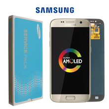 Nieuwe Super Amoled 5.1 Lcd Vervanging Met Frame Voor Samsung Galaxy S7 Display G930 G930F Touch Screen Digitizer + service Pack